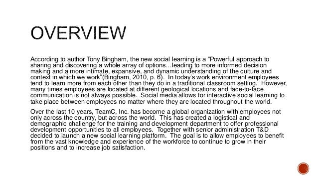 """According to author Tony Bingham, the new social learning is a """"Powerful approach to sharing and discovering a whole array..."""