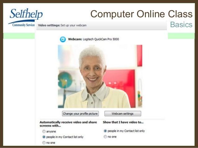 Self help 32nd class Skype Basics face to face Video Calling