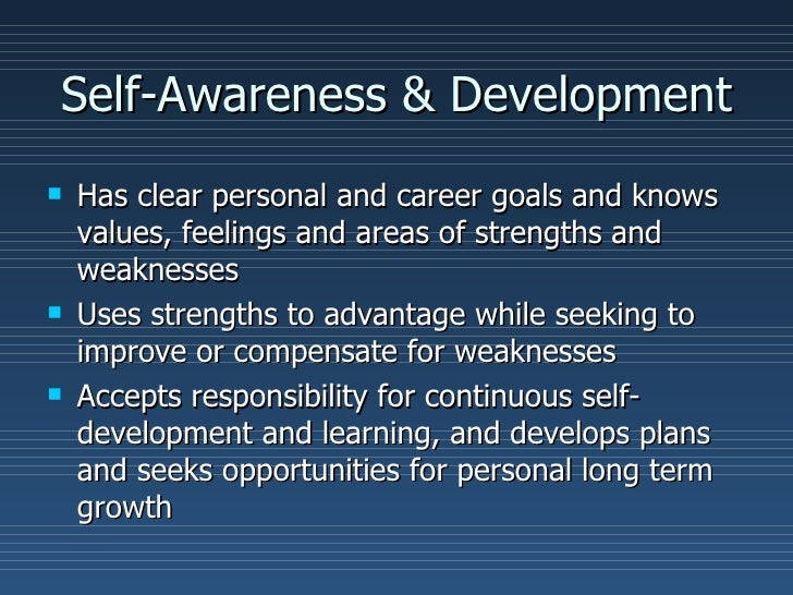 Personal Growth And Development Self management