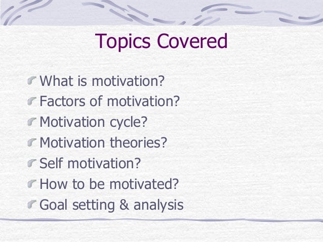 A study of the motivations for self presentations