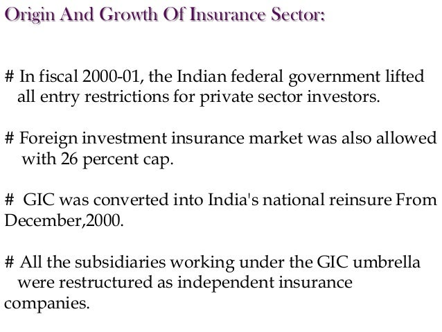 Insurance sector reform in India