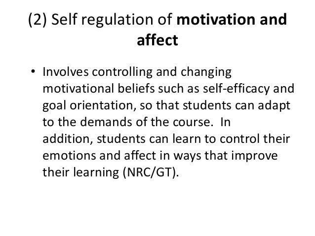 self regulation theory strategies self regulation of motivation and affect 21