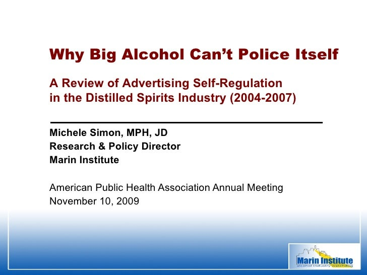 Michele Simon, MPH, JD Research & Policy Director Marin Institute American Public Health Association Annual Meeting Novemb...
