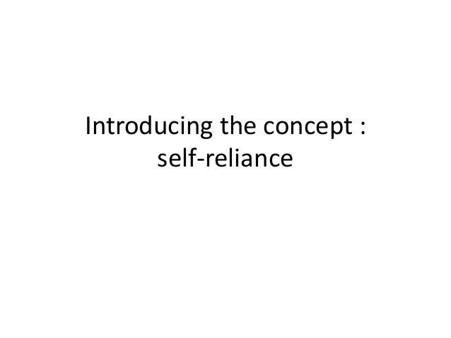 concept of self reliance