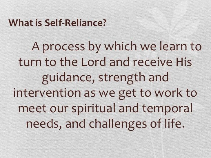 Self sufficient definition meaning