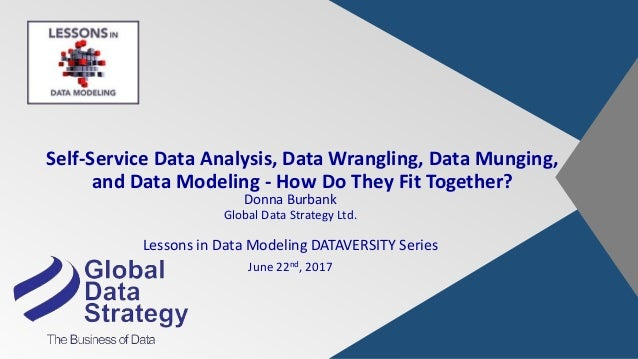 SelfService Data Analysis Data Wrangling Data Munging And Data Mo