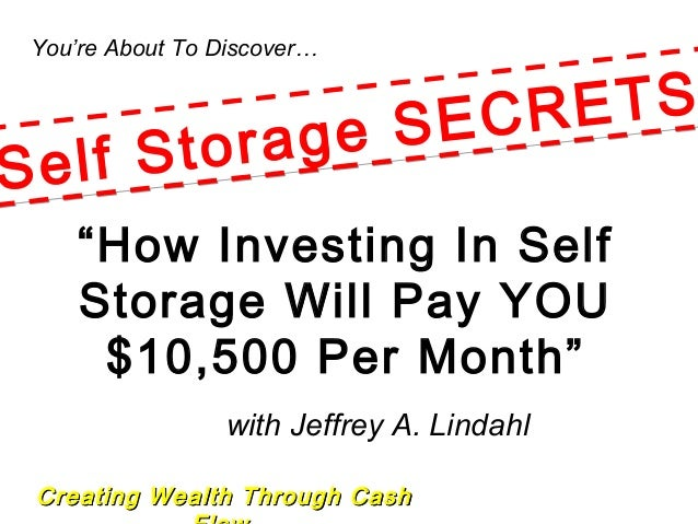 "Creating Wealth Through CashCreating Wealth Through Cash You're About To Discover… with Jeffrey A. Lindahl ""How Investing ..."