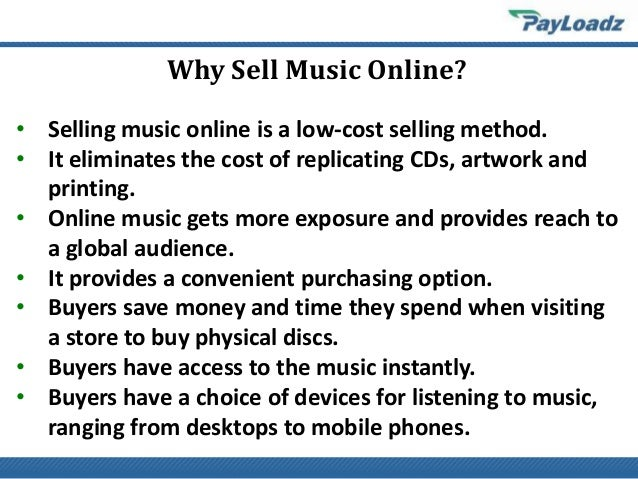 how to sell music downloads online