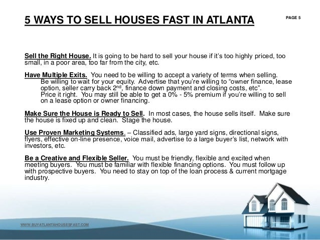 Sell My Home Atlanta Georgia - FREE CASH OFFER