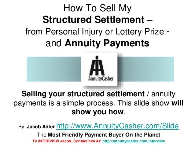 Sell Your Structured Settlement Payments