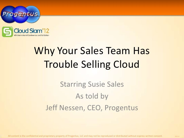 Why Your Sales Team Has                         Trouble Selling Cloud                                         Starring Sus...