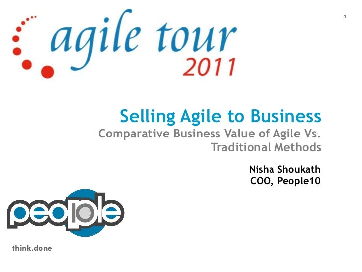 1                Selling Agile to Business             Comparative Business Value of Agile Vs.                            ...