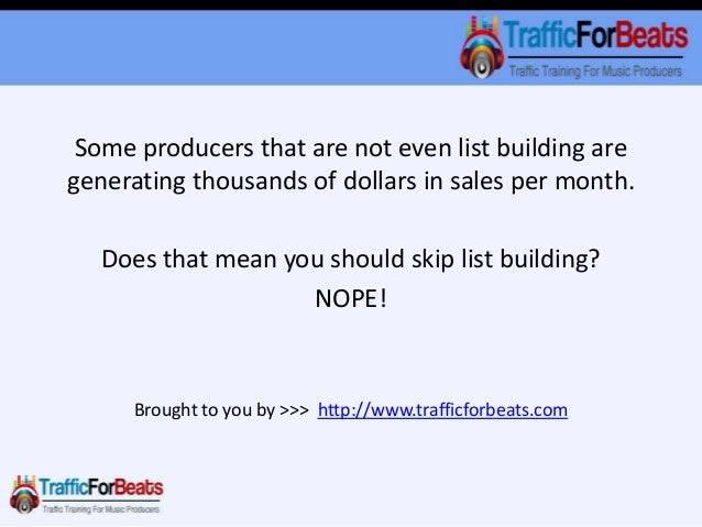 Can You Really Sell Beats Through Email? Slide 3