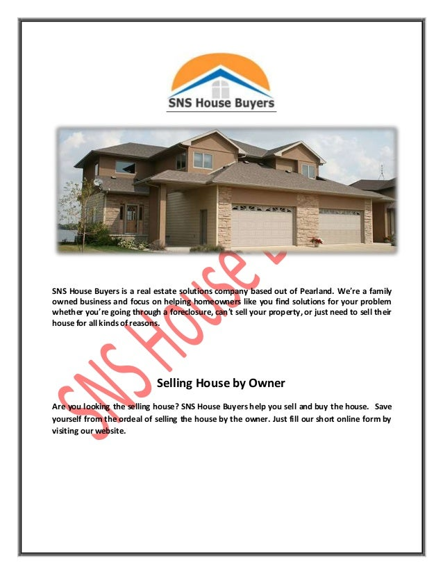 Sell My House Fast in Houston - SNS House Buyers
