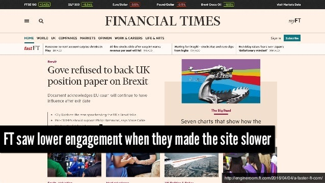 http://engineroom.ft.com/2016/04/04/a-faster-ft-com/ FT saw lower engagement when they made the site slower