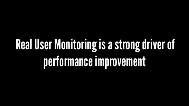 Real User Monitoring is a strong driver of performance improvement