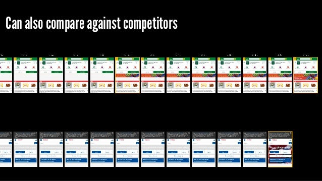Can also compare against competitors