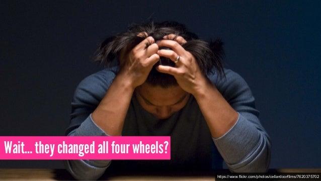 Wait… they changed all four wheels? https://www.flickr.com/photos/cellardoorfilms/7620375702