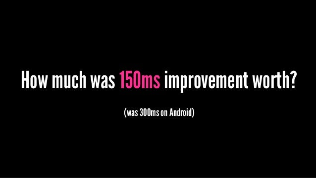 How much was 150ms improvement worth? (was 300ms on Android)