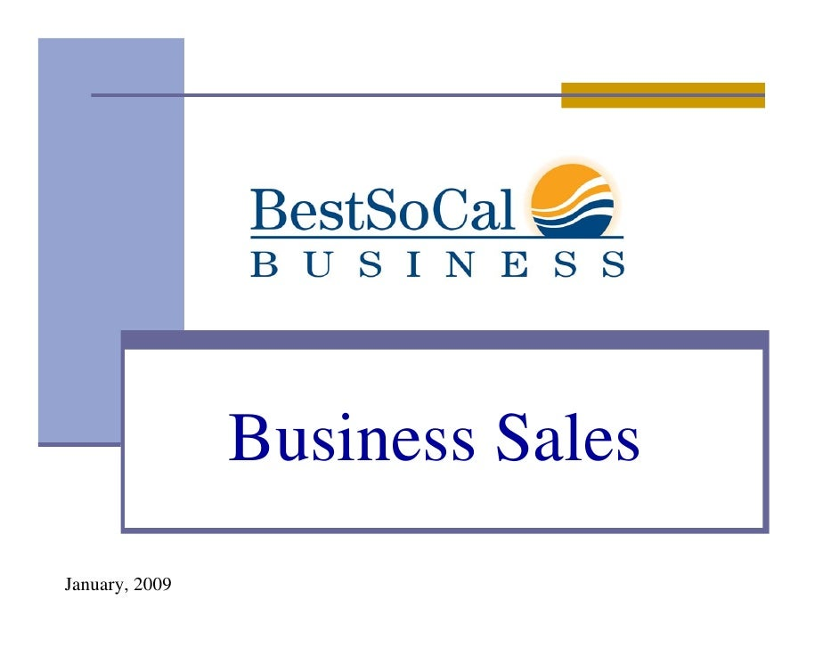 Business Sales January, 2009