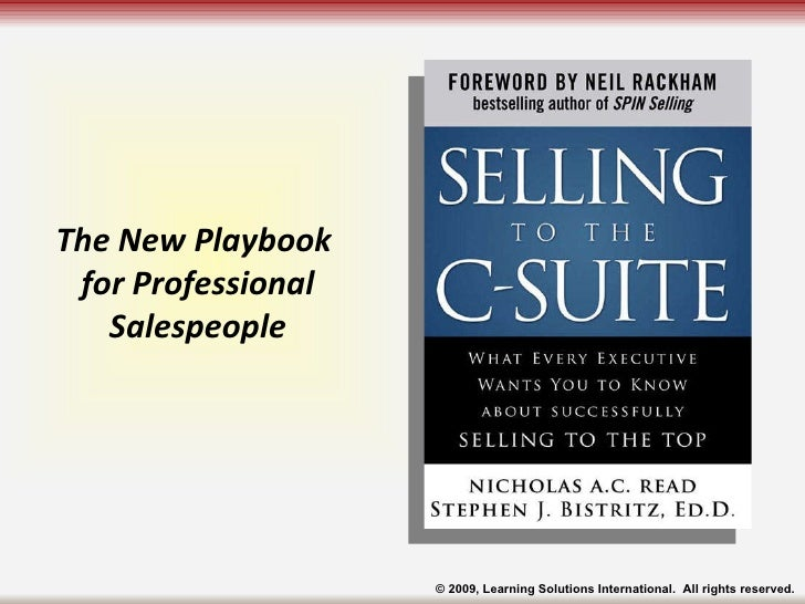 The New Playbook  for Professional Salespeople