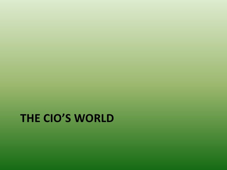 Selling to the CIO Slide 2