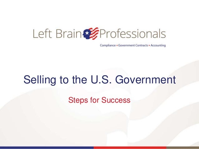 Selling to the U.S. Government Steps for Success