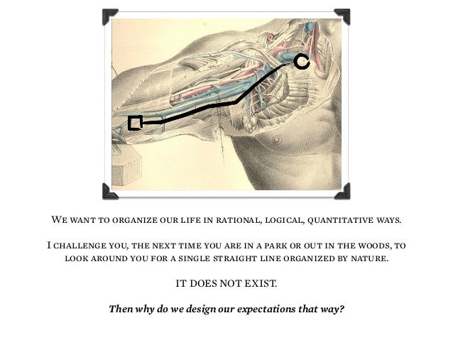 We want to organize our life in rational, logical, quantitative ways. I challenge you, the next time you are in a park or ...
