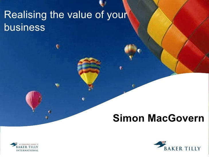 Simon MacGovern Realising the value of your business