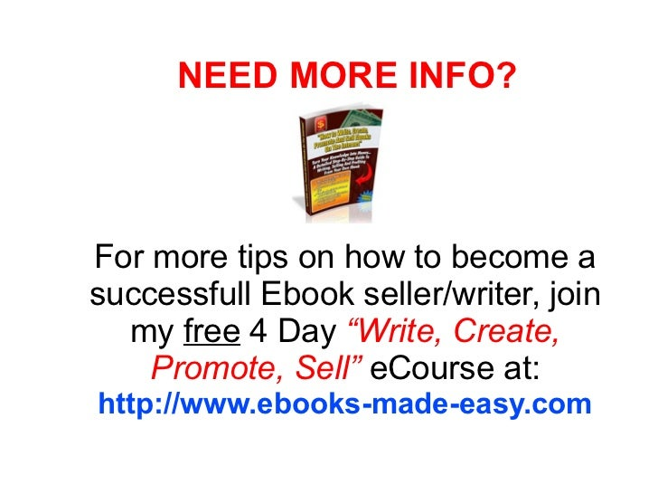 how to create an ebook to sell