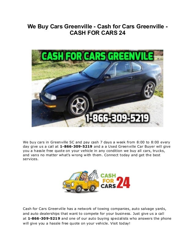 Cash for Cars Greenville - We Buy Cars Greenville