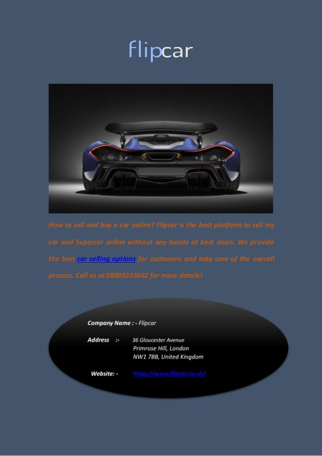 How To Sell My Car And Supercar Online Without Any Hassle
