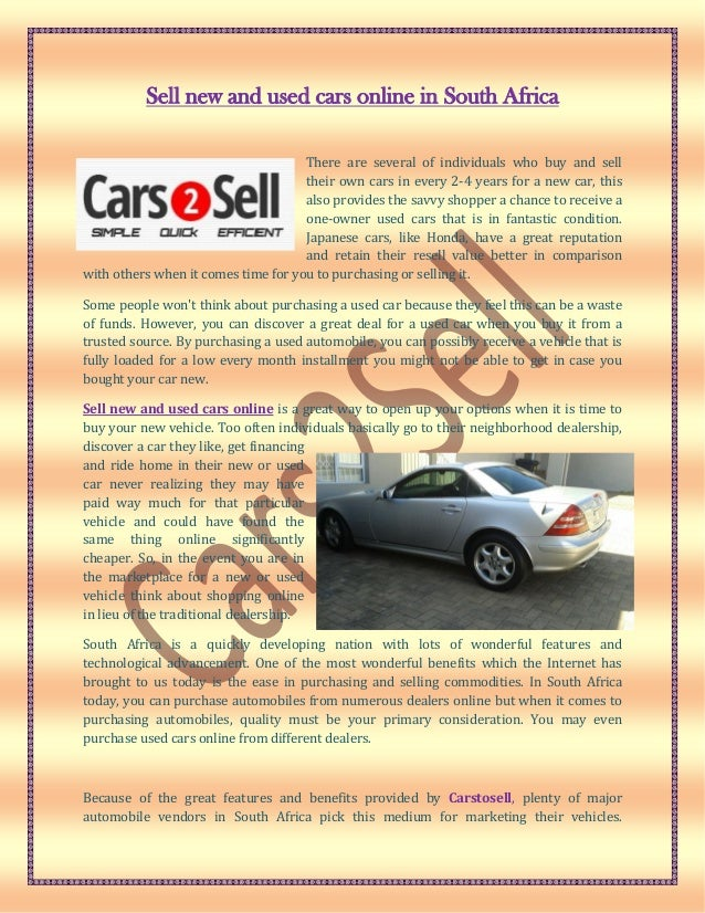 automobile sell