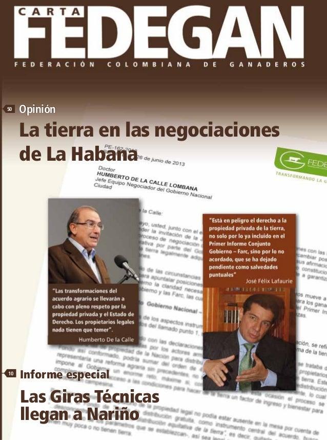 136 Mayo-Juniode2013N.o 136-ISSN0123-2312 Mayo-Juniode2013No.136FEDERACIÓNCOLOMBIANADEGANADEROS Informe especial Las Giras...