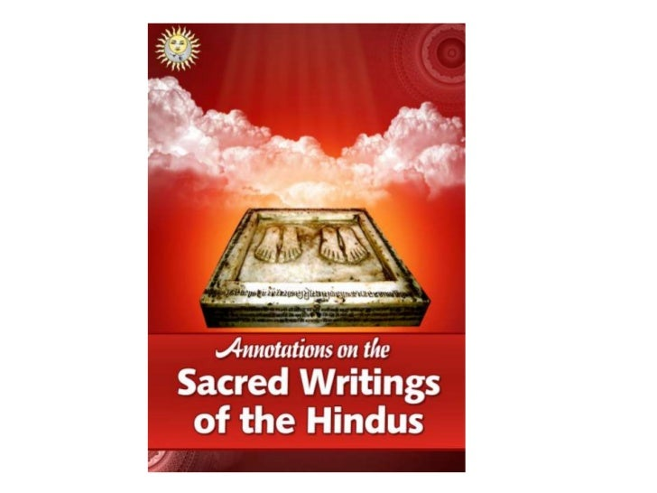 Annotations on the Sacred Writings of               the Hindus• The eBook republishes Annotations on the Sacred  Writings ...