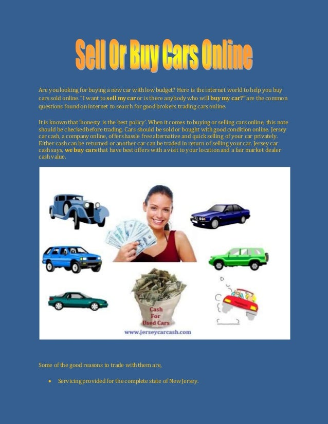 Sell or buy cars online