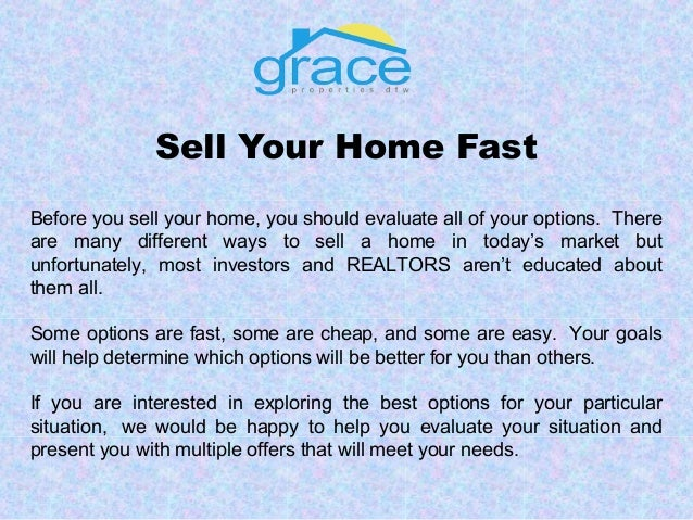 Get Your House Sold Fast