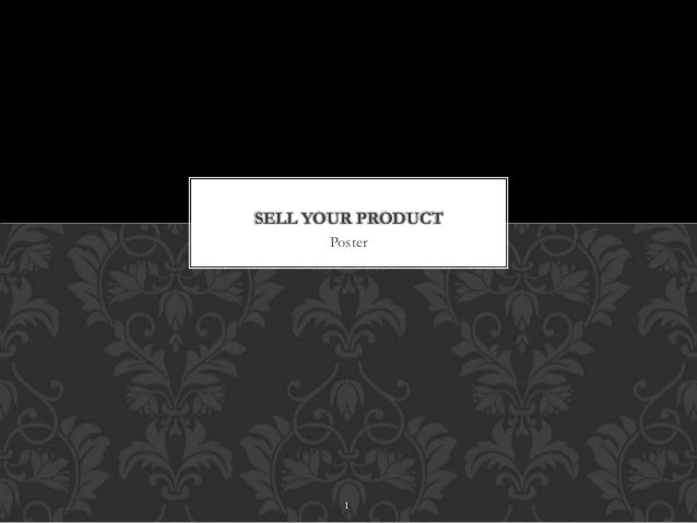 SELL YOUR PRODUCT  Poster  1