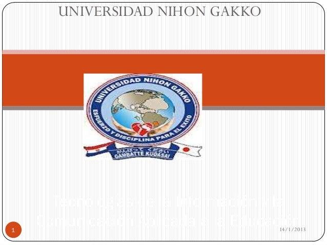 UNIVERSIDAD NIHON GAKKO      Tecnologías de la Información y la1    Comunicación Aplicada a la Educación                  ...