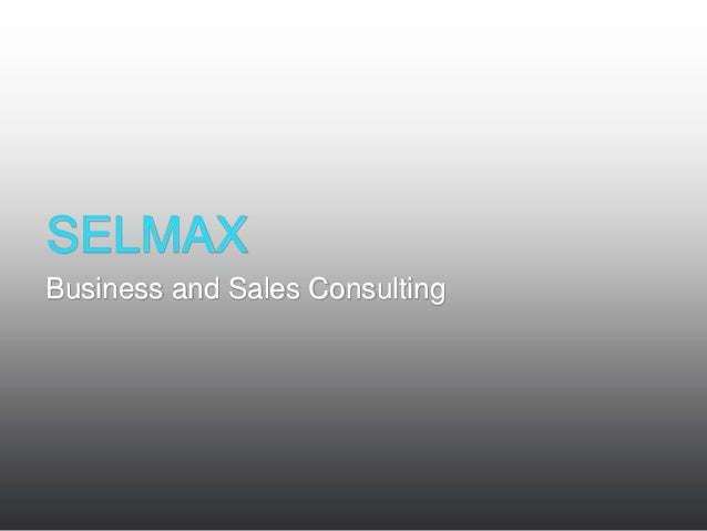 SELMAXBusiness and Sales Consulting