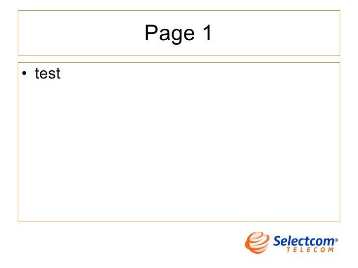 Page 1 <ul><li>test </li></ul>