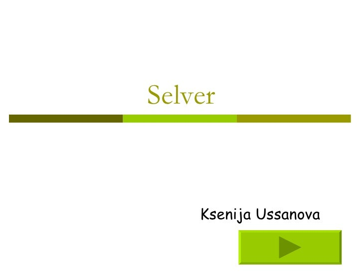Selver Ksenija Ussanova