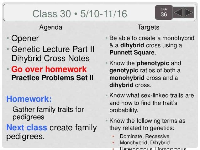 Semester 2, 4th quarter biology agenda and targets 2016
