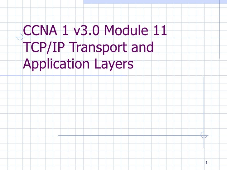 CCNA 1 v3.0 Module 11  TCP/IP Transport and Application Layers .
