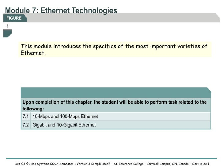 This module introduces the specifics of the most important varieties of Ethernet.