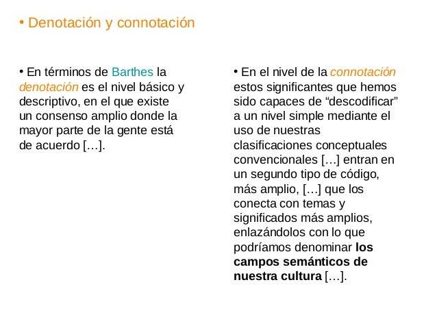 • Denotación y connotación