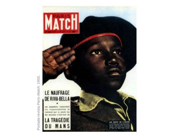 • El mito como sistema semiológico Ojos levantados Joven Negro PortadarevistaParis-Match.1955.