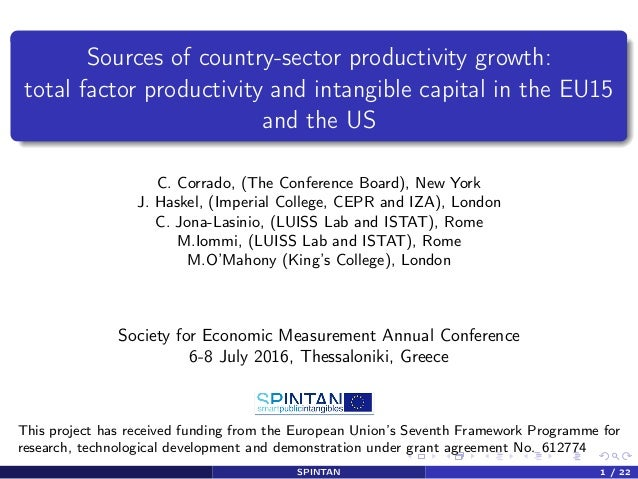 Sources of country-sector productivity growth: total factor productivity and intangible capital in the EU15 and the US C. ...