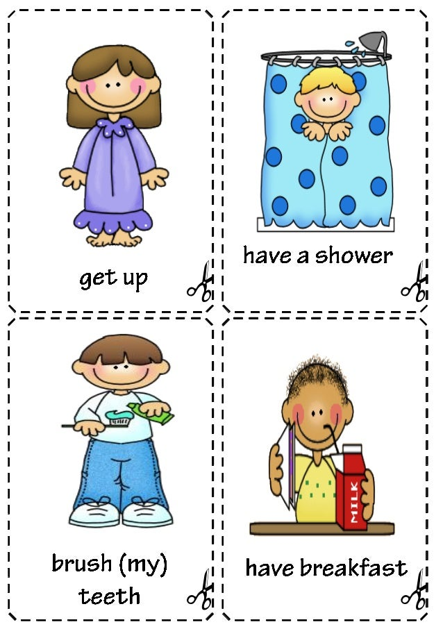 Impertinent image in free printable daily schedule pictures for preschool