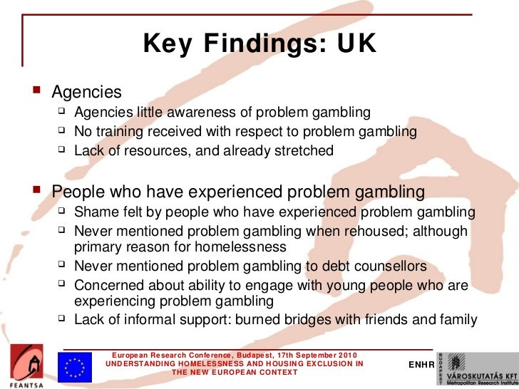Problem gambling homelessness other gambling cities in nevada